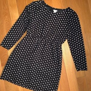 Only worn once J Crew polka dot dress!